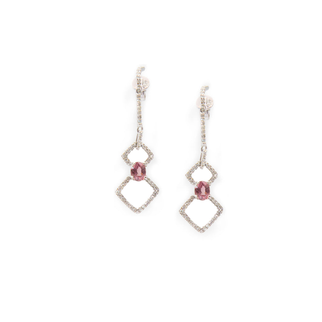 Padparadscha Sapphire Drop Earrings