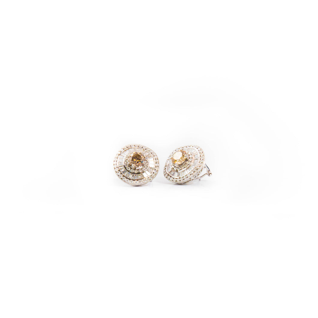 Fancy Colour Diamond Studs