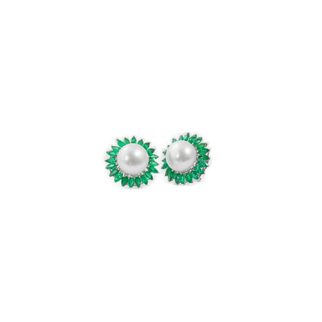 Pearl and Emerald Earrings