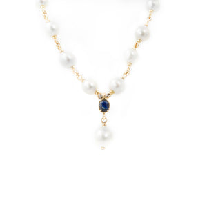 Pearl and Sapphire Necklace