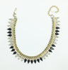 Miriam Haskell Black & Clear Rhinestone Necklace & Bracelet