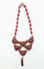 Miriam Haskell Red Glass Bib Necklace