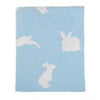 Darzzi Blue Bunny Baby Blanket/Natural