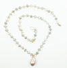"Ramina Rechard 1 Baroque Champagne Pearl on 24"" Moonstone Beads"