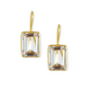 Dina Mackney Designs  EMERALD CUT ROCK CRYSTAL DROP EARRINGS