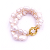 Nest Jewelry BAROQUE PEARL DOUBLE STRAND BRACELET WITH SPRING RING CLASP