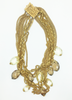 Miriam Haskell Kramer 9 Strand Chain with Topaz & Citrine Necklace