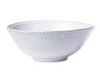Vietri Bellezza Stone Medium Deep Serving Bowl White