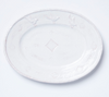 Vietri Bellezza Stone Large Oval Platter White