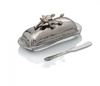 Michael Aram White Orchid Butter Dish with Knife