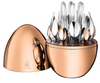 Christofle Mood Rose Gold Plated Flatware 24 Piece Set