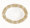 Waterford Lismore Lace Gold Open Vegetable Bowl 9.75 In.