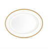 Waterford Lismore Lace Gold Oval Platter 15.25 In.