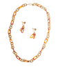 Miriam Haskell Goldtone and Tortoiseshell Necklace