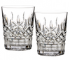 Waterford Lismore Pair of Double Old Fashioned Tumblers