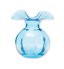 Vietri Hibiscus Aqua Glass Bud Vase in Gift Box