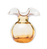 Vietri Hibiscus Amber Glass Bud Vase In Gift Box
