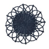 Juliska Waveney Wicker Charger Navy Blue