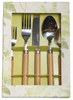 Caspari Wood 5 Piece Place Setting Flatware