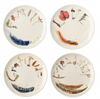 Juliska Forest Walk Sentiment Set of 4 Tidbit Plates