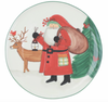 Vietri Old St. Nick 2019 Limited Edition Platter Santa and Reindeer