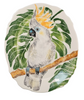 Vietri Into the Jungle Cockatoo Scallop Oval Platter 15.75'' x 13'' W