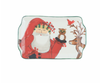 Vietri Old St. Nick 2019 Limited Edition Rectangular Plate Santa with Owl and Reindeer