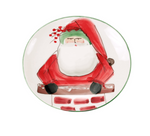 Vietri Old St. Nick Cookie Plate with Chimney