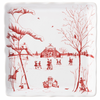 Juliska Winter Frolic Mr. and Mrs. Claus Ruby  Sweets Tray