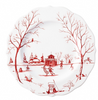 Juliska Winter Frolic The Claus Christmas Day Ruby Dessert Salad Dessert Salad Plates