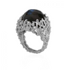 Michael Aram Ocean Ring with Labradorite and Diamonds in Sterling Silver