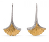 Michael Aram Butterfly Ginkgo Leaf Drop Earrings with Diamonds in Sterling Silver and 18K Gold
