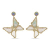 Capucine De Wulf Grand Butterfly Earrings, Mother of Pearl
