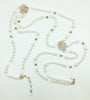 Stanley Hagler N.Y.C. Extra Long Crystal and Pearl Necklace two strand