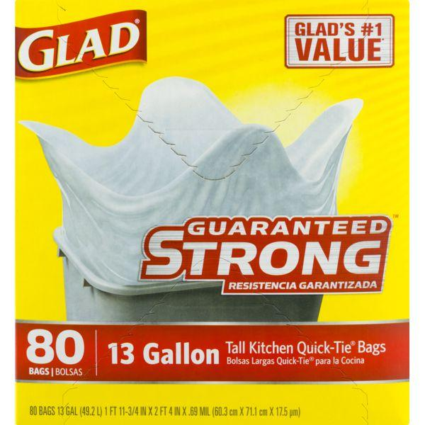 Glad Tall Kitchen Quick-Tie Trash Bags MirchiMasalay