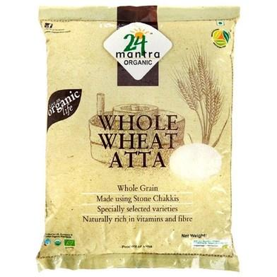 24 Mantra Organic Whole Wheat Atta - MirchiMasalay