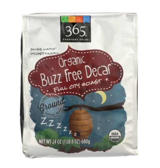 Organic Full City Roast Buzz Free Decaf Ground Coffee MirchiMasalay