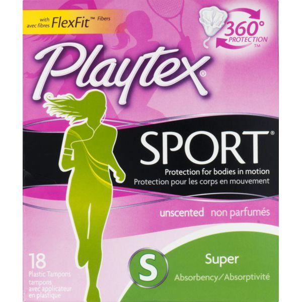 Playtex Sport Playtex Plastic Tampons Sport Unscented Super MirchiMasalay
