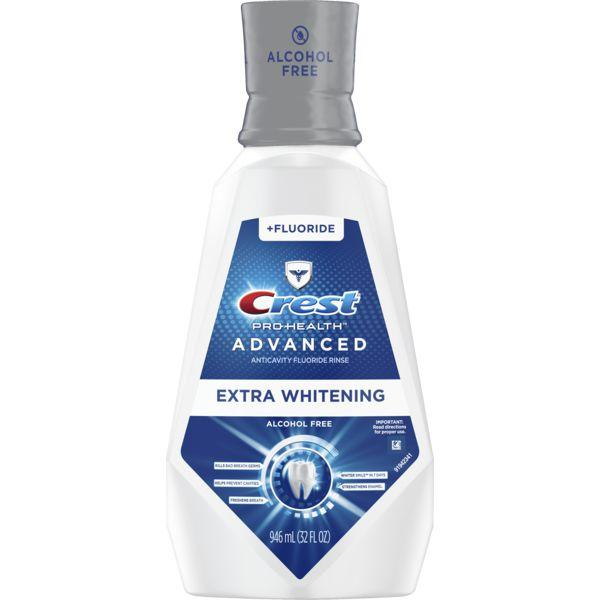 Crest Pro-Health Advanced Mouthwash, Alcohol Free, Extra Whitening, Energizing Mint Flavor MirchiMasalay