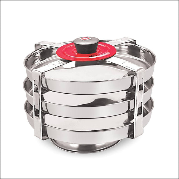 Marvels Stainless Steel Dhokla Plate Outer Lid Kamdar