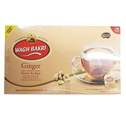 Wagh Bakri Ginger 100 Tea Bags MirchiMasalay