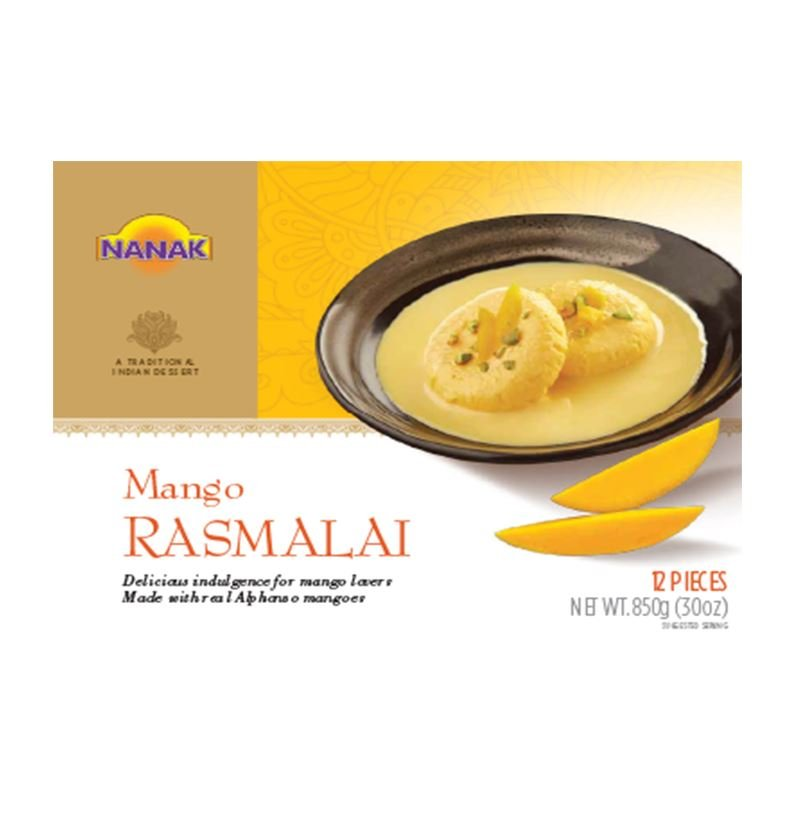 Mango Rasmalai 12 pcs MirchiMasalay