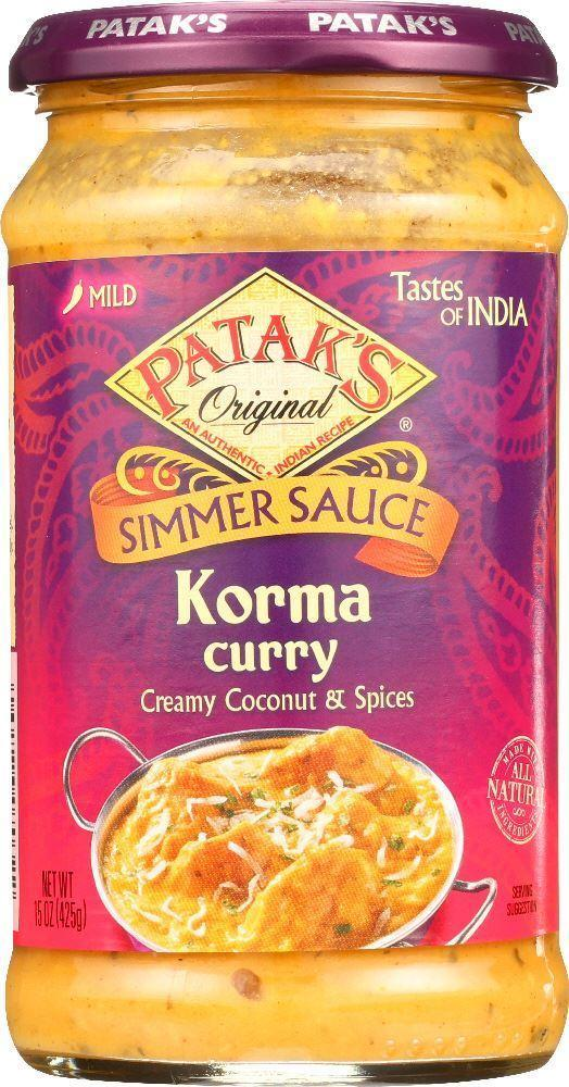 Patak's korma Curry Simmer Sauce ( Rich Creamy Coconut- Mild) - MirchiMasalay
