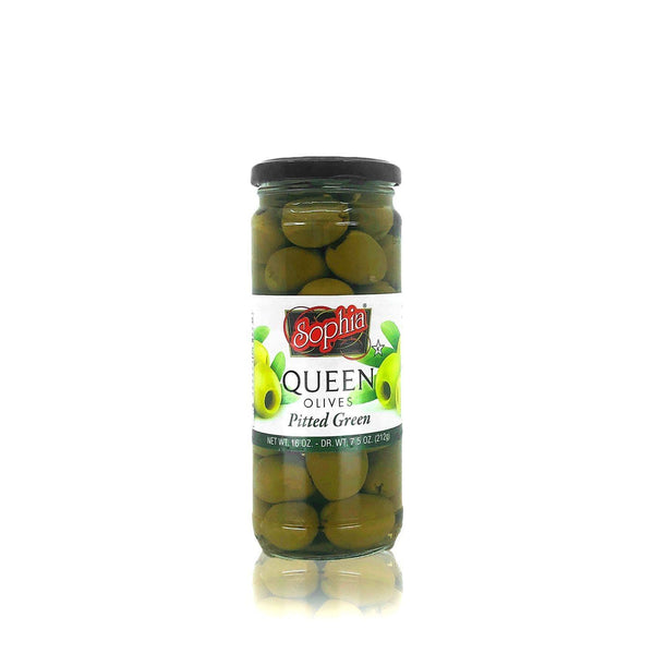 Sophia Queen Olives (Pitted Green) MirchiMasalay