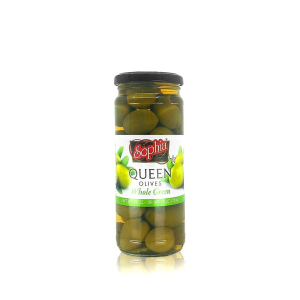 Sophia Queen Olives (Whole Green) MirchiMasalay