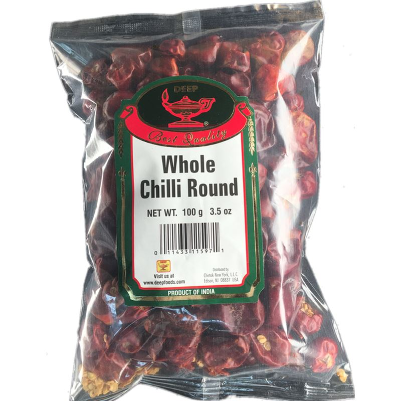 Deep Round Whole Chili spices MirchiMasalay