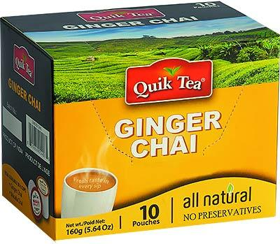 Quick Tea Ginger Chai ( 10 pouches ) MirchiMasalay