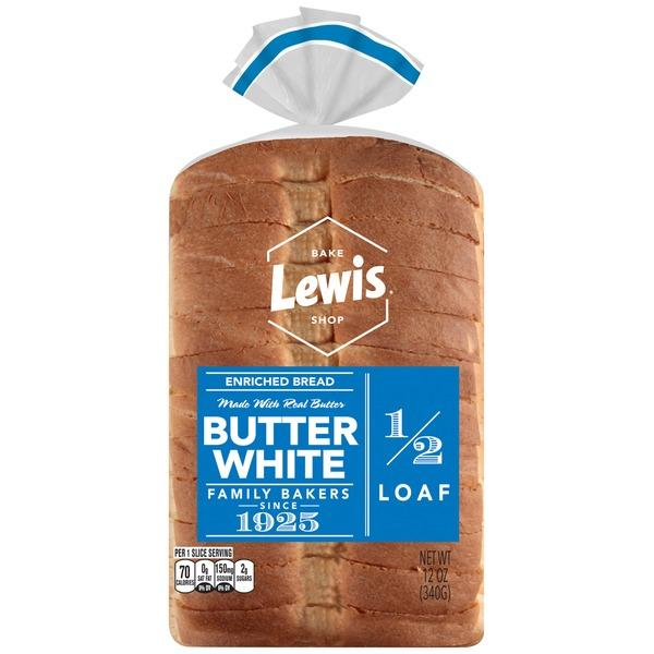 Lewis Bake Shop Half Loaf Butter White Enriched Bread MirchiMasalay