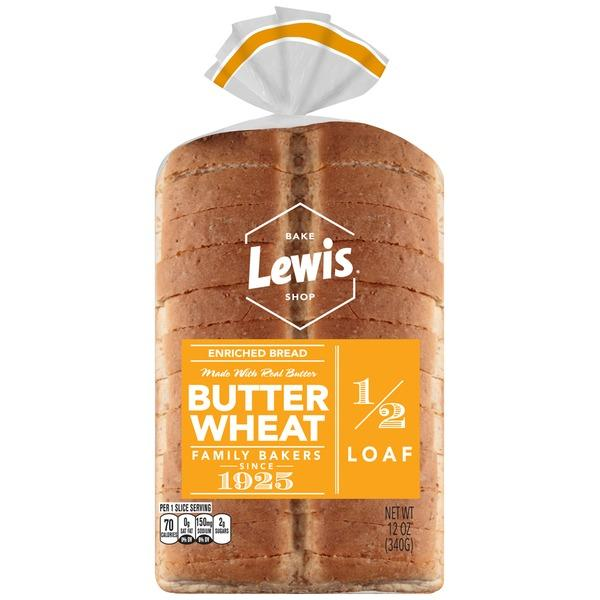 Lewis Bake Shop Half Loaf Butter Wheat Enriched Bread MirchiMasalay