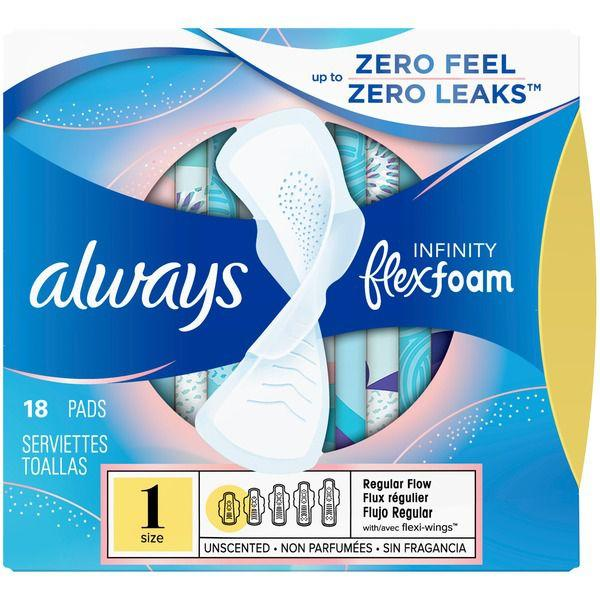 Always Infinity Size 1 Regular Sanitary Pads with Wings MirchiMasalay